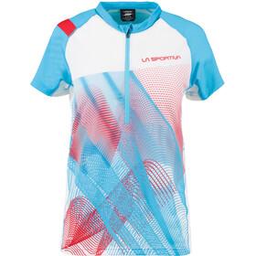 La Sportiva Veloce T-paita Naiset, malibu blue/white